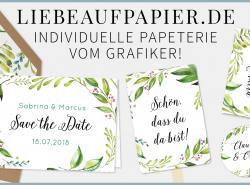 Hochzeitspapeterie von Liebe auf Papier